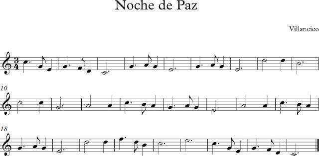 Descubriendo la Música. Partituras para Flauta Dulce : Noche de Paz