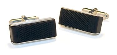 Made with a puck used in an NHL game - Hockey Puck Cufflinks