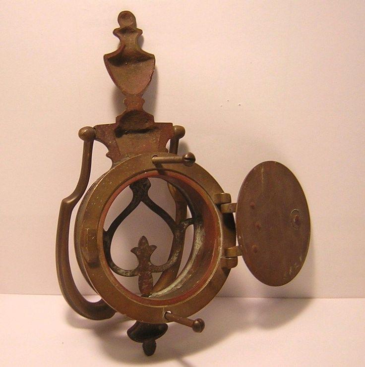 Antique Victorian Brass Speakeasy Door Knocker And Peep