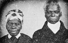 Detail from a daguerreotype of Jeremiah and Venus Tilghman, ca. 1850. Husband and wife, the Tilghmans were slaves belonging to Col. Benedict William Hall of Baltimore when this image was made. Courtesy of the Maryland Historical Society. | Maryland Genealogical Society