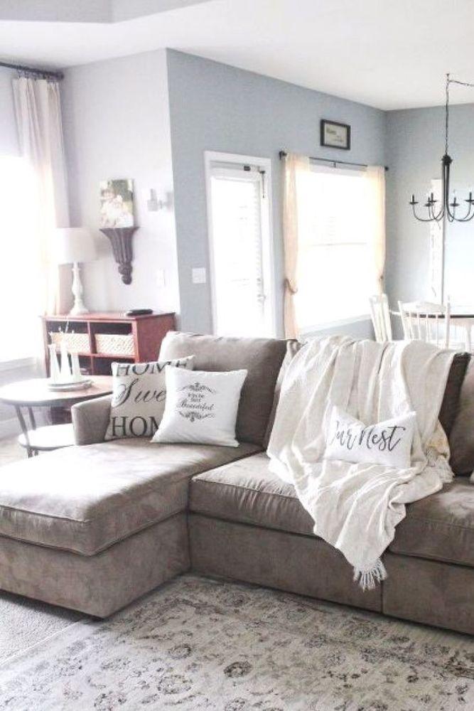 Modern Farmhouse Living Room Makeover Idea In 2020 Farmhouse