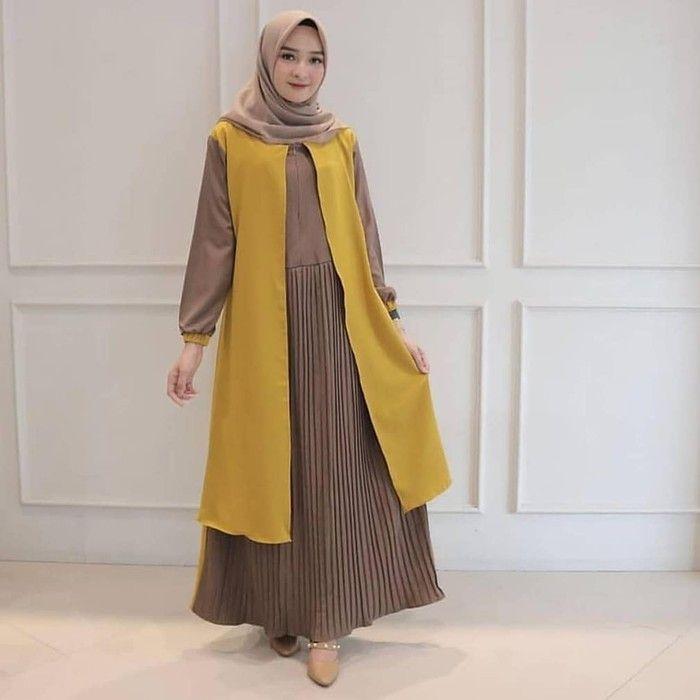 Jilbab Yang Cocok Untuk Baju Warna Kuning