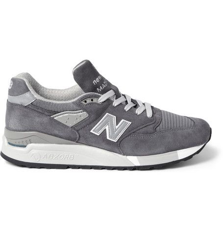 New Balance 998 Suede and Mesh Sneakers | MR PORTER