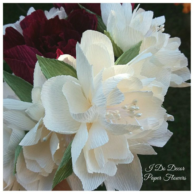 Italian crepe flowers. Durban paper flowers