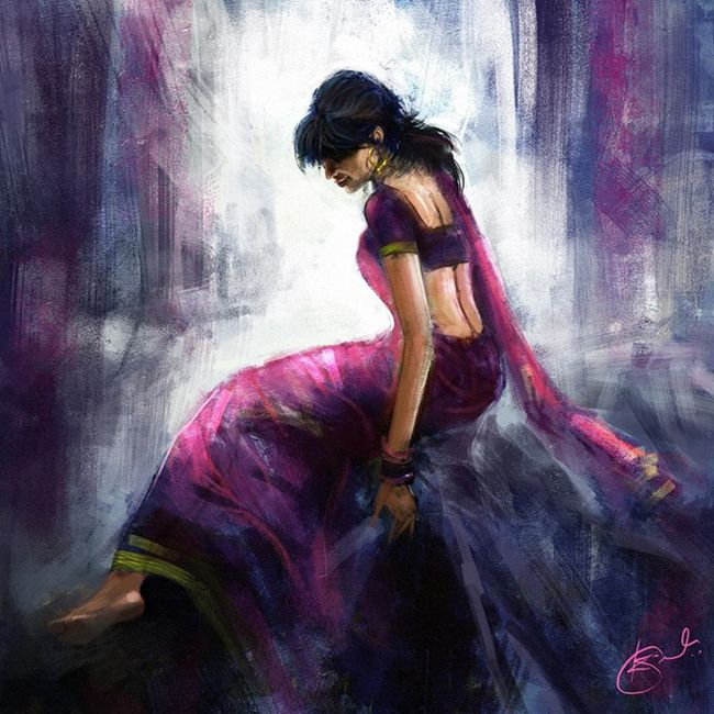 traditional indian paintings of women - Google Search