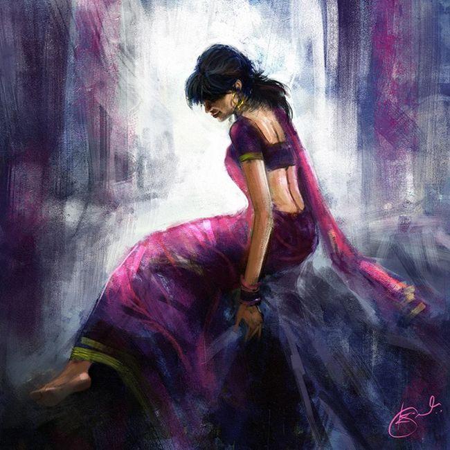 Digital painting by Kiran Kumar