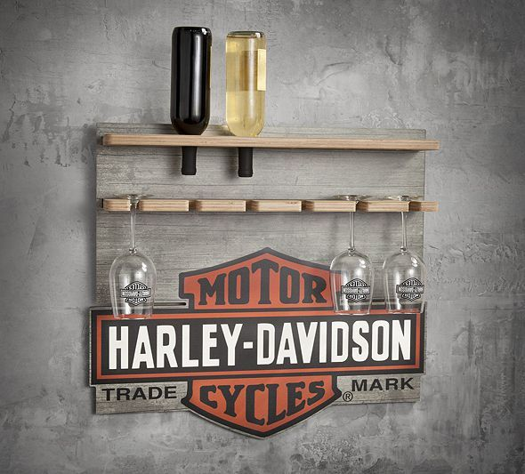 Wooden Wine Rack Display Harley Davidson Gifts For