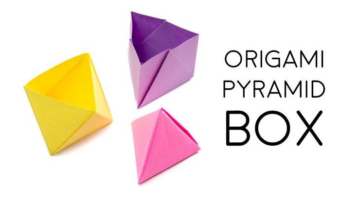 Origami Pyramid Box Tutorial  DIY  Paper Kawaii (Oozeq) #origami #paperkawaii