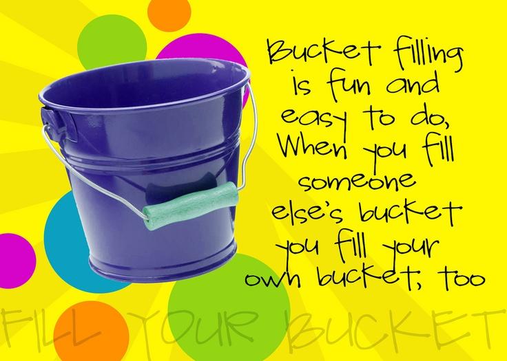 bucket filling | Holidays | Pinterest