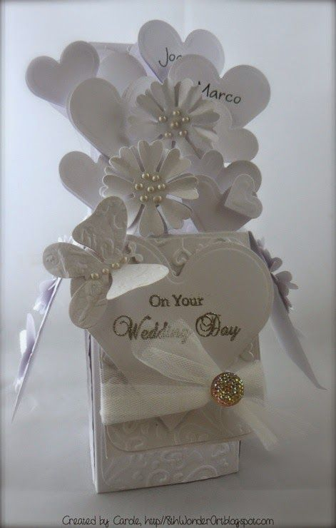 Carole's Crafty Creations Pop up box wedding card