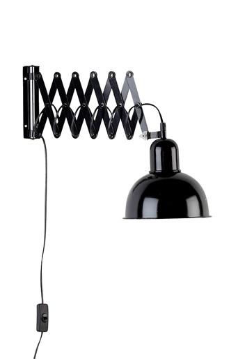 Ellos Home Vägglampa Edgar Vit, Svart Vägglampor Ellos 449