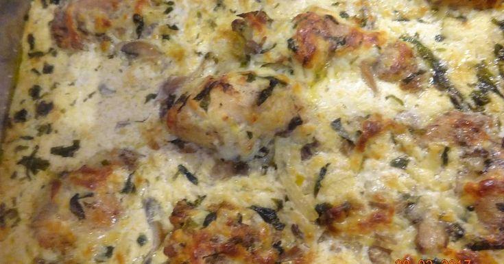 Mennyei Tejszínes medvehagymás csirkecomb recept! Nagyon szaftos, nagyon finom!