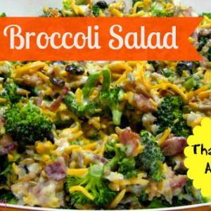 Easy Broccoli Salad - Two Chics And A Blog