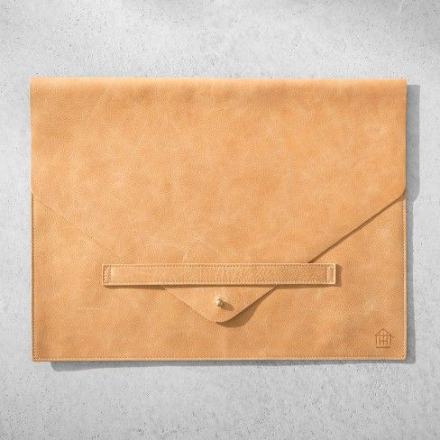 08dfc2c2824f Genuine Leather Document/Laptop Sleeve - Cognac - Hearth & Hand ...