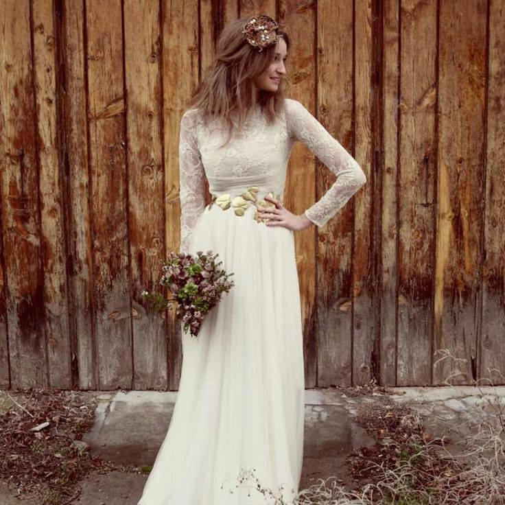 что свадебное платье в стиле рустик фото много