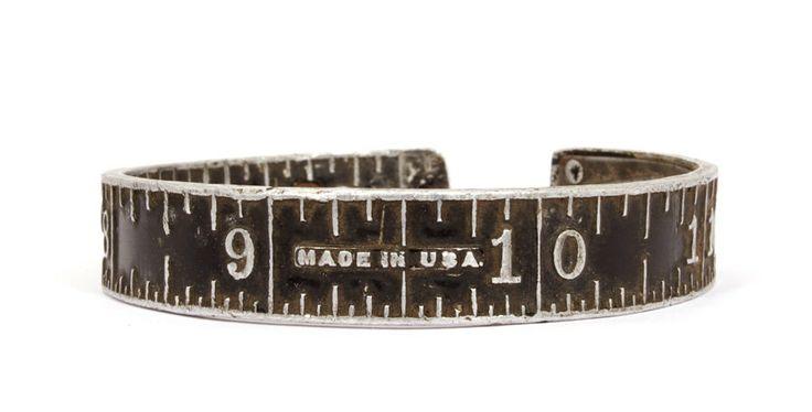 Vintage Stanley Ruler Bangle by jacqvon on Etsy, $80.00