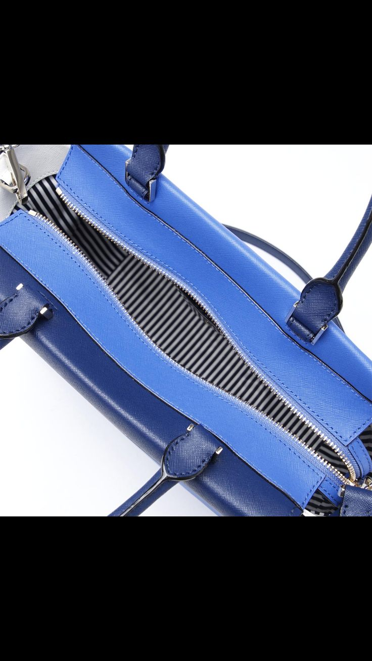 Kate Spade Cameron Street  Blakely Satchel $ 395  Blue  Leather