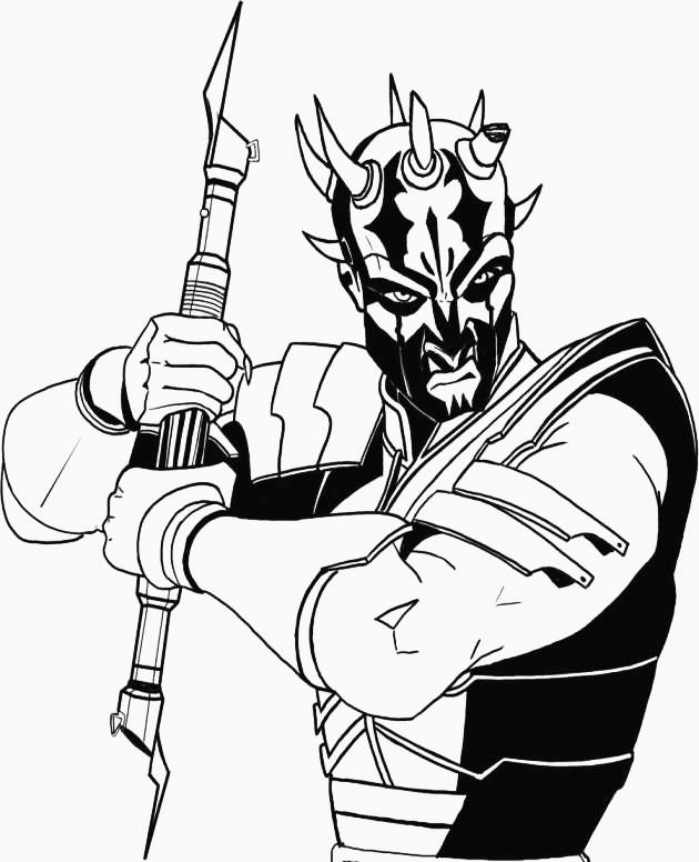 Darth Maul Coloring Pages Darth Maul Star Wars Poster Star