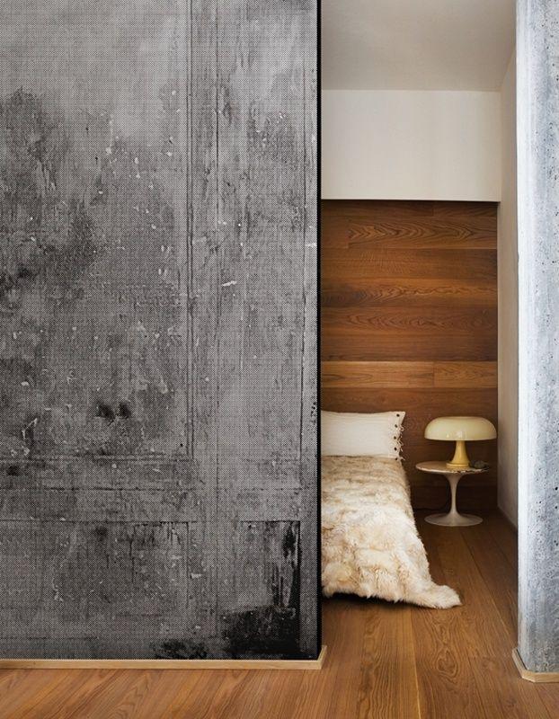 Meer dan 1000 idee n over behang plafond op pinterest plafonds plafondtegels en drum schaduw - Deco woonkamer behang ...