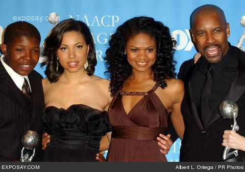 Jurnee Smollett Mom and Dad | Denzel Whitaker, Jurnee Smollett, Kimberly Elise and Denzel Washington ...