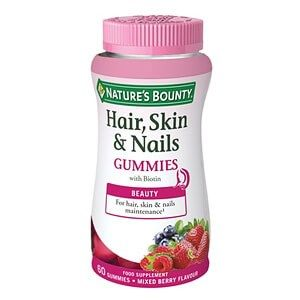 Natures Bounty Hair, Skin & Nails Gummies With Biotin 60 Gummies   This great tasting gummy provides key nutrients for healthy skin, nails and hair including zinc, vitamins C and E, biotin and collagen and supports your natural beauty regime.   #supplements #vitamins #healthandbeauty