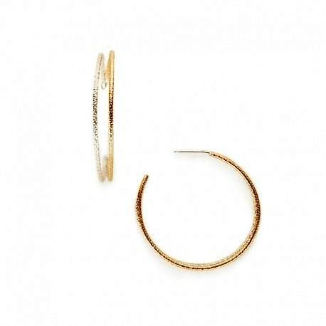 Gold Fill and Sterling Silver Hoop Post Earrings by Ian Gibson