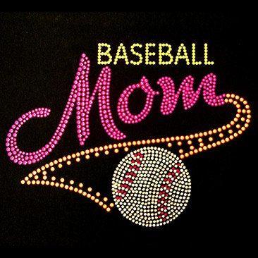 Baseball Mom Neon Rhinestuds - Short Sleeve T-Shirt - Ladies on Etsy, $25.00