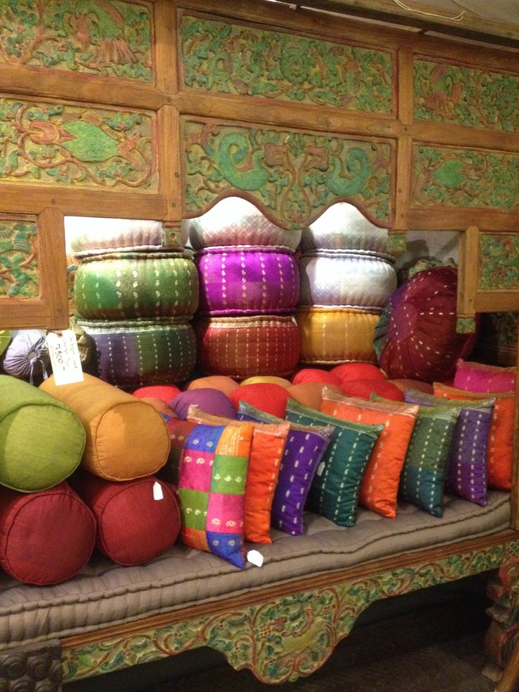 All of our cushions are now located at our 17th avenue location. Come check out our HUGE selection of pillows and cushions. We also have two shelves full of chair cushions as well! All 30% off! #recycled #sari #cushions #homedecor #imports #bali #yyc