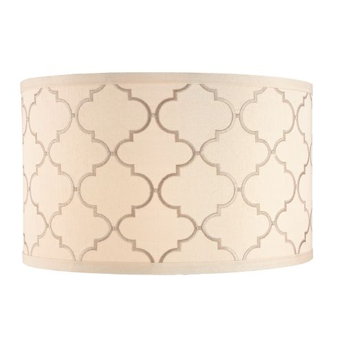 Cream Drum Lamp Shade with Marrakesh Pattern and Spider Assembly | DCL SH7639 | Destination Lighting