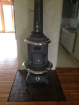 Woodburner Pot Belly Stove Antique By Comfort Stove Cast Iron Nickel Someday Pinterest