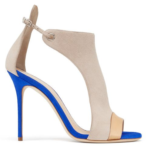 «Caitie - Sandales - Beige-blu  | Giuseppe Zanotti | Giuseppe Zanotti Design Online Store