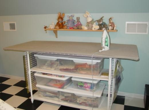 I Like The Idea Of The Wire Rack( Shelving) .need To See If I Can Attach To  Cutting Table For Hanging Rulers Hmmmmmmm? Quilting With Judy Martin     Lessons, ...