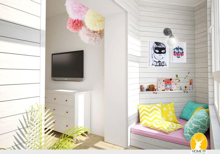 HOME IT!: Комната для девочки 5ти лет. 3D визуализация.