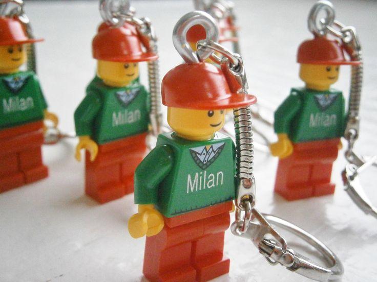 lego minifig sleutelhanger gepersonaliseerd  lego with name