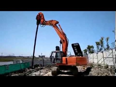 Small steel pipe pile driving machine—Hydraulic Vibratory Pile Driver