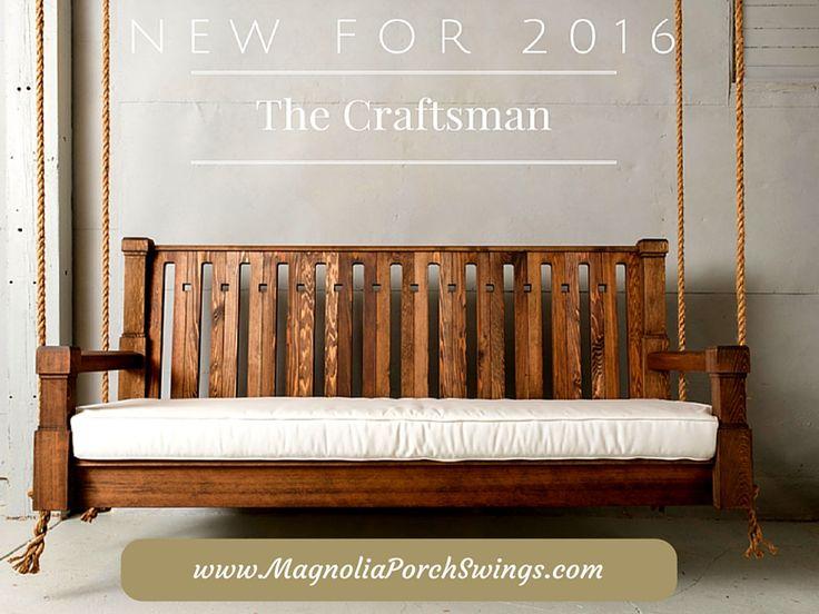 Nostalgic Craftsman Porch Swing and Accessories