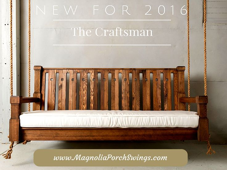 Nostalgic Craftsman Porch Swing and Accessories