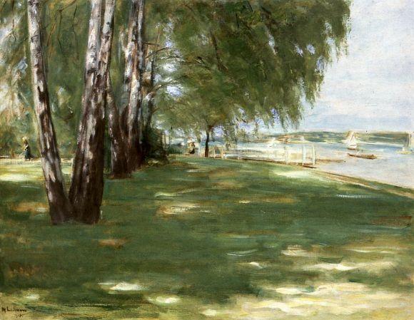 Birken am Seeufer von Max Liebermann