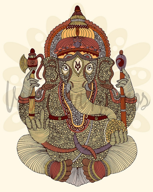 "Digital illustration: ""Ganesha: Lord of Success"""