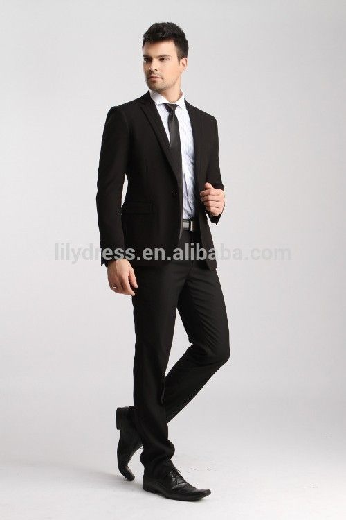 Slim Fit One Button One Central Vent Custom Mens Business Suites (Jacket+Pants+Tie) BS130 Cheap Mens Blazers