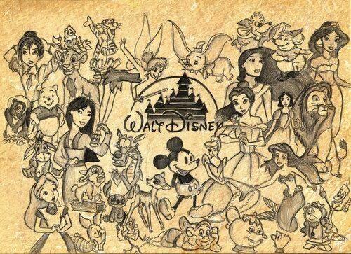 Disney collage