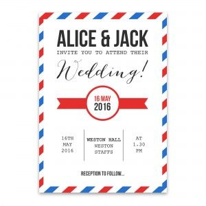You've got mail! Air Mail Wedding Invitation - perfect for destination weddings!