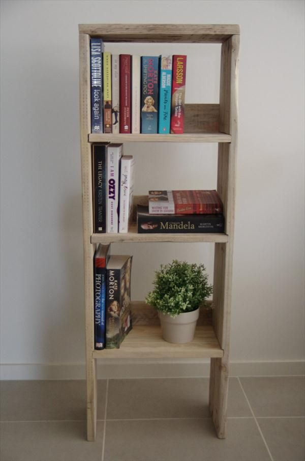DIY Pallet Wood #Bookcase - Bathroom #Storage Unit | Pallet Furniture DIY