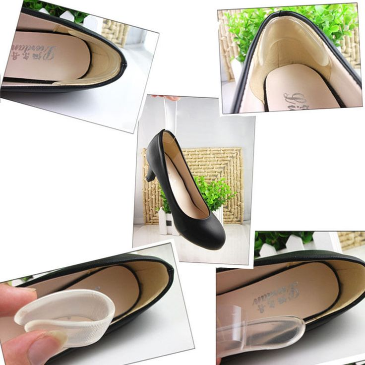 Silicone Back Heel Liner Gel Cushion Pads Insole High Dance Shoes Grip Care Foot Heel