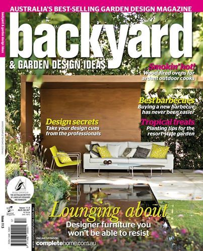This  Backyard & Garden Design Ideas Magazine cover features our Zendo sofa and Asta easy chairs at the Melbourne International Flower and Garden Show earlier this year. Big thanks to Ian Barker Gardens ! http://www.coshliving.com.au/