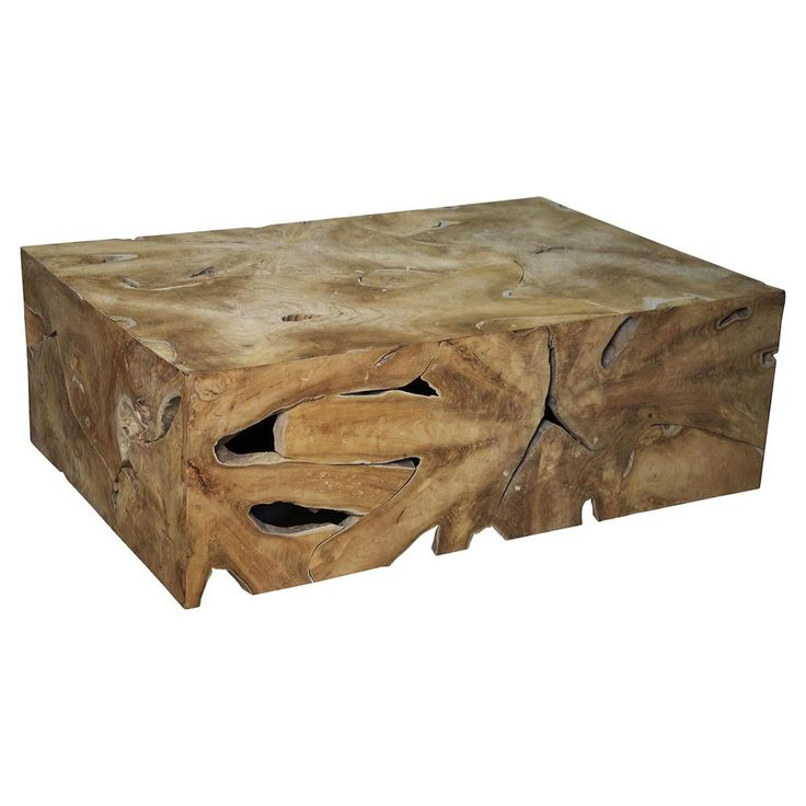 Seneca Rustic Lodge Teak Coffee Table