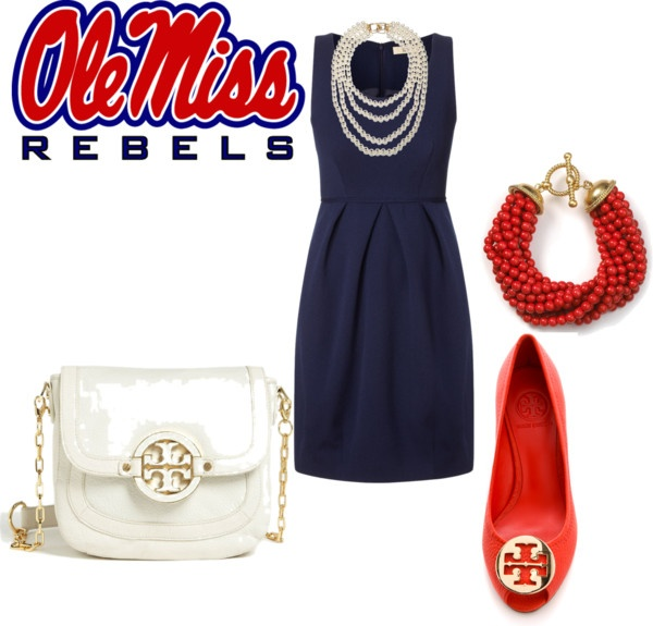 """Ole Miss Football Games"" by christinainkpen on Polyvore"