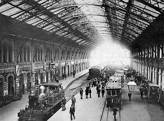 Madrid antiguo. Estación de Atocha