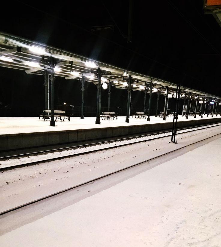 Sopot, Train station, Winter