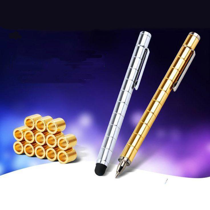 2017 New Arrival Magnes Magic Pen Zabawki Antystresowe Fidget Rąk Finger Funkcja Stres Przędzenia Koła Spinner Jak Lizun Wszelkie-kierownicy